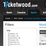 Thumbnail of Ticketwood website